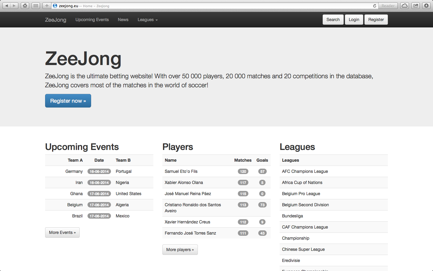 ZeeJong Soccer Betting System