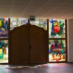 Glasraam in de Sint-Sixtusabdij van Westvleteren (1)