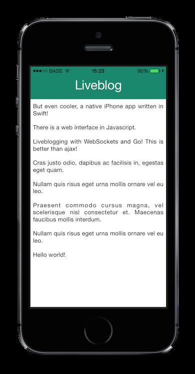 Liveblog iOS iPhone app screenshot