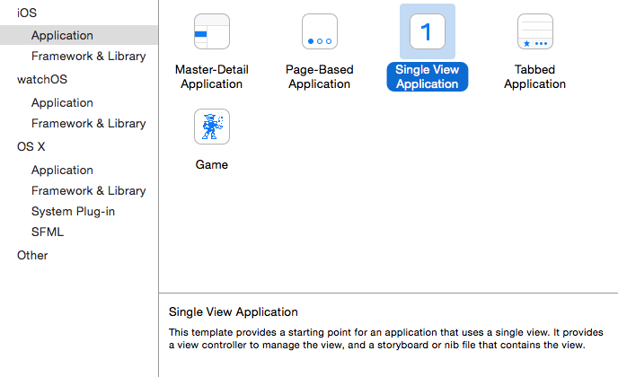 Xcode create Swift Single View app