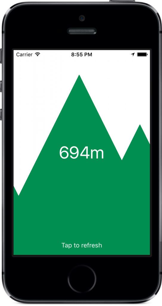 Altitude app for iPhone