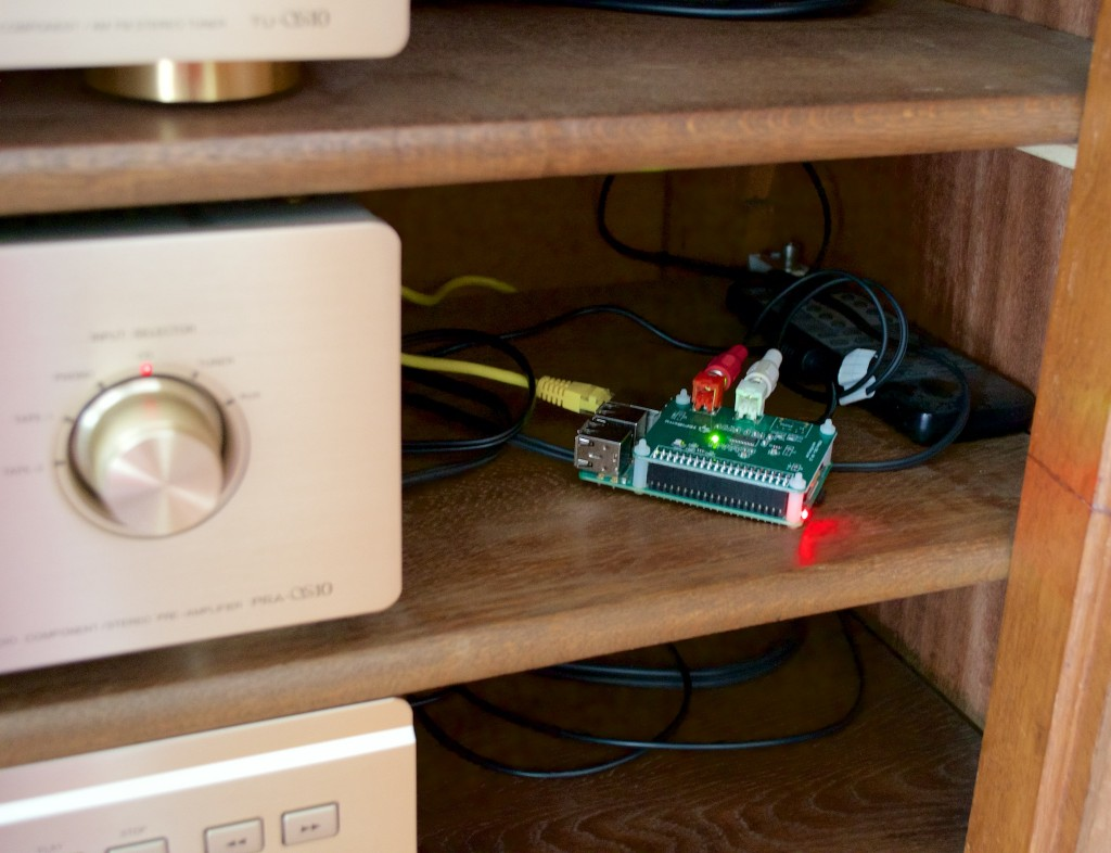 Raspberry Pi with HifiBerry running Volumio, an awesome