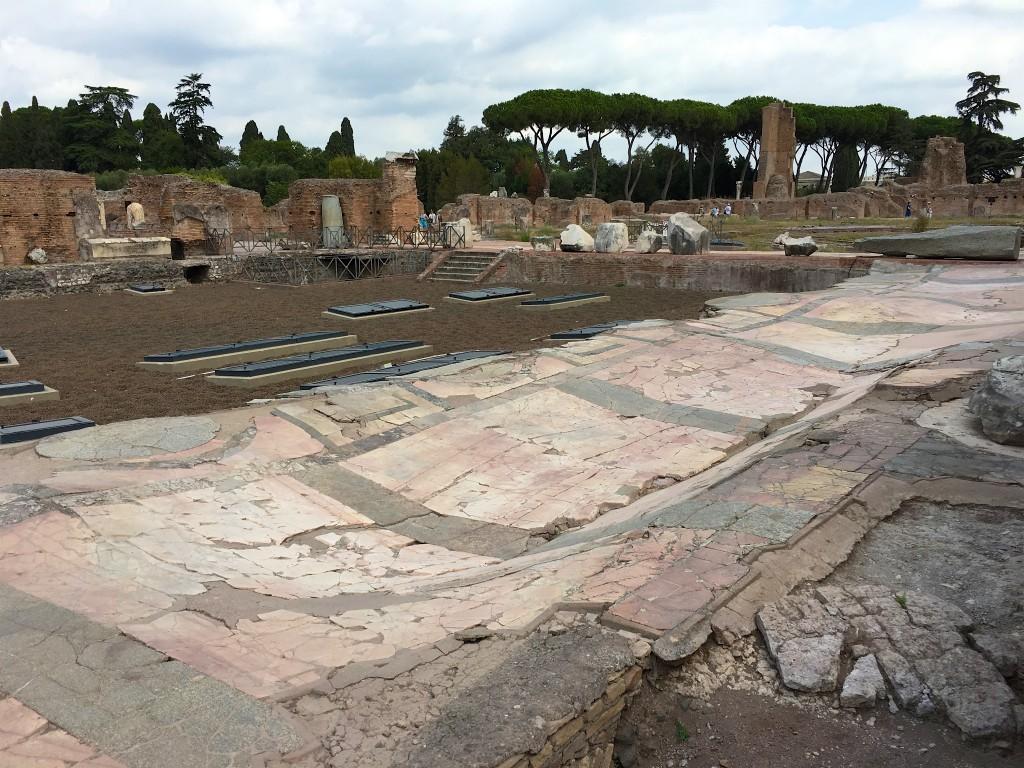 Marmeren vloer op Palatijn