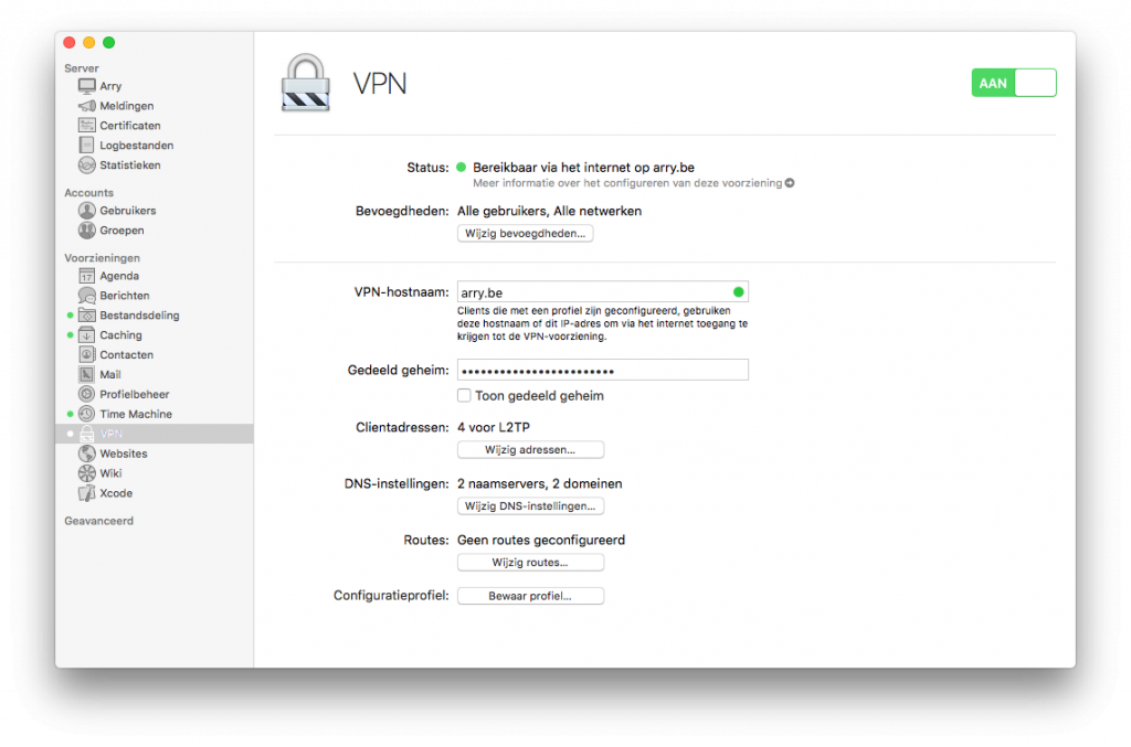 macOS Server VPN configuration