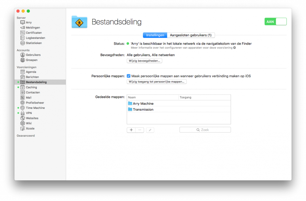 macOS server file sharing